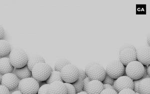 stack of golf balls