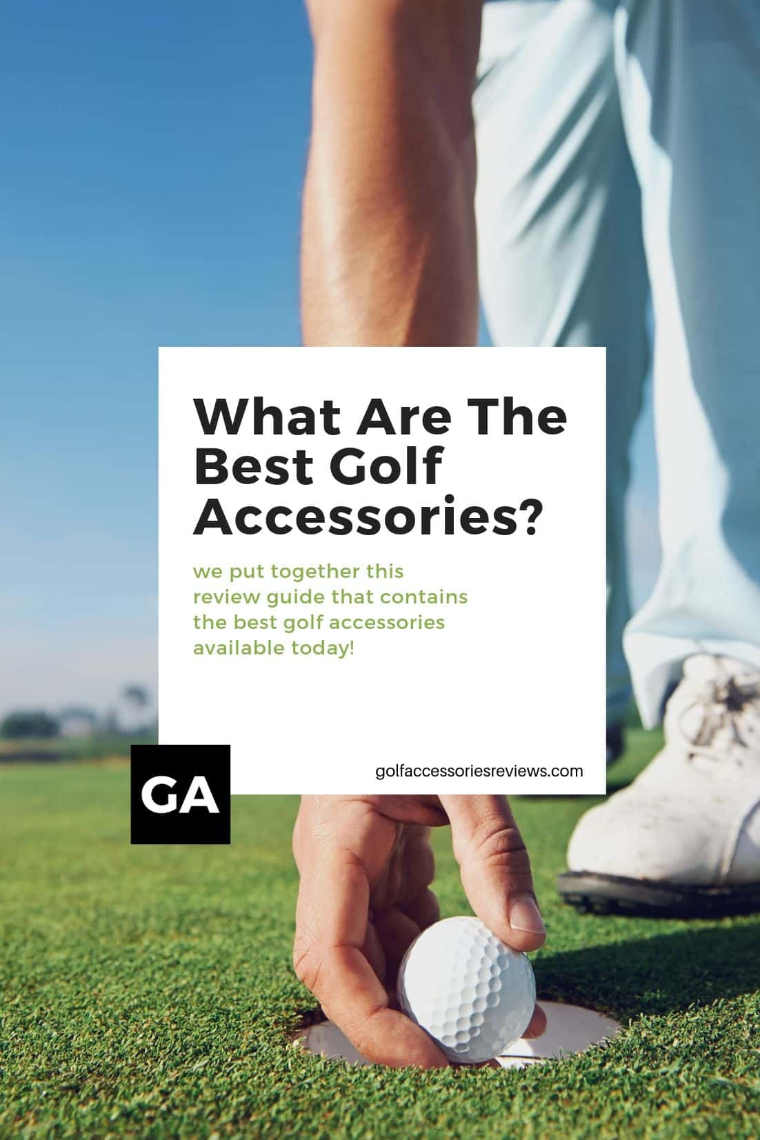 what are the best golf accessories image of a guy picking up a golf ball