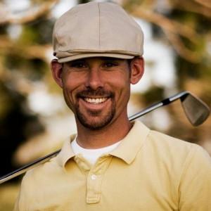 Happy golf Player